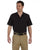 LS535 Dickies Men's 4.25 oz. Industrial Short-Sleeve Work Shirt - BLACK