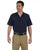 LS535 Dickies Men's 4.25 oz. Industrial Short-Sleeve Work Shirt - NAVY