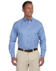 M500 Harriton Men's Long Sleeve Twill - LogoShirtsWholesale                                                                                                       - 1