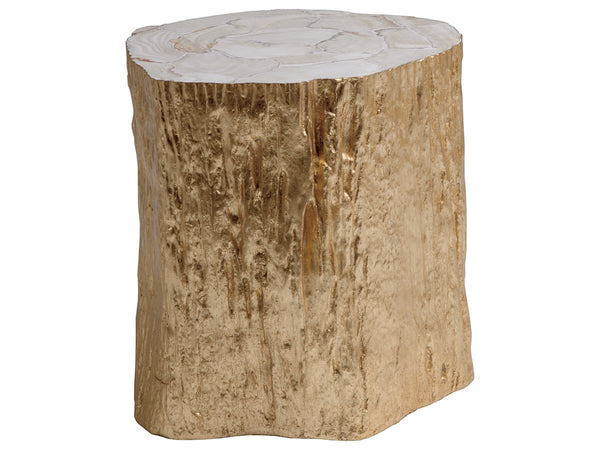 Trunk Segment Spot Table - Gold Leaf