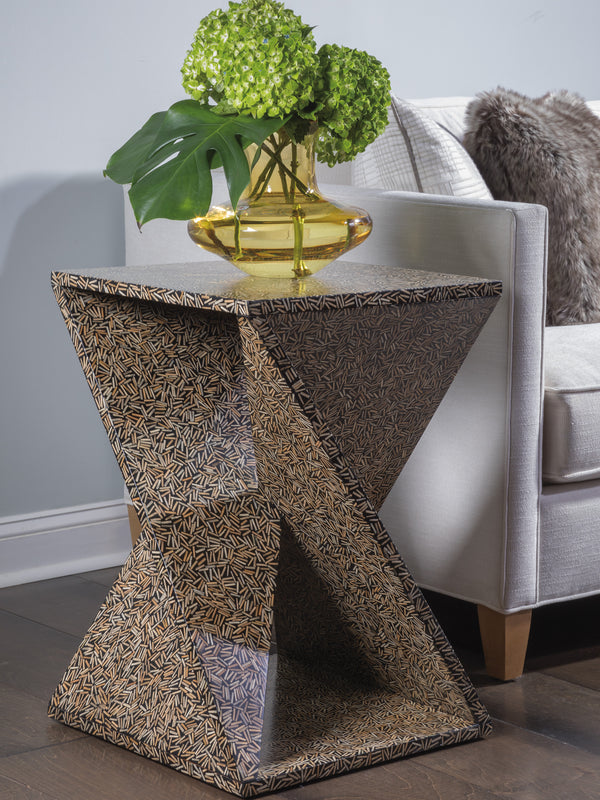 Ardor Rattan Cluster Accent Table