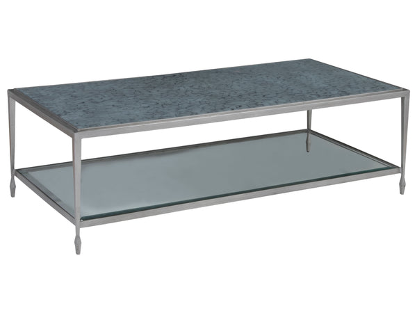 Sashay Silver Rectangular Cocktail Table