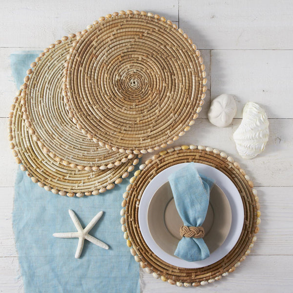 Pandan and Seashell Placemats, Set of 4