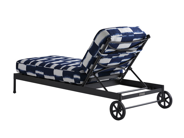 Pavlova Chaise Lounge in Blue & White