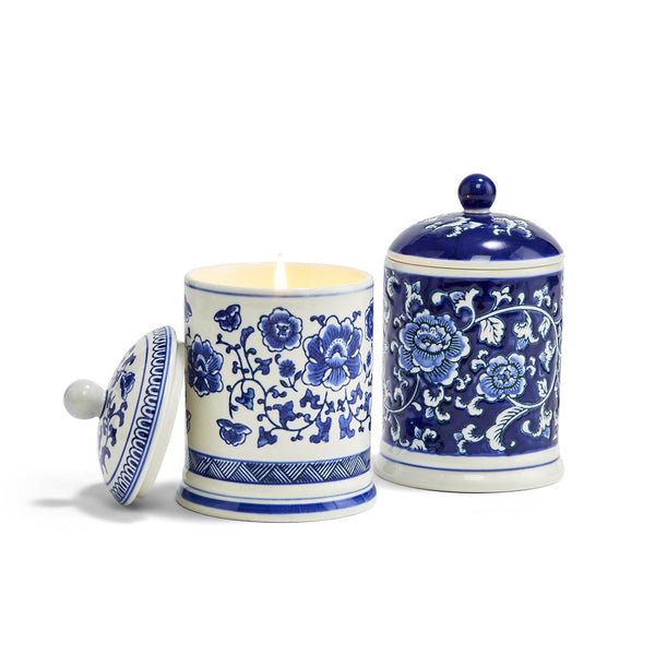 Canton Collection Lidded Candle, in 2 Designs