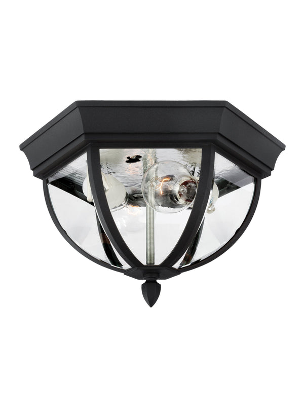 Wynfield Collection Two Light Outdoor Ceiling Flush Mount
