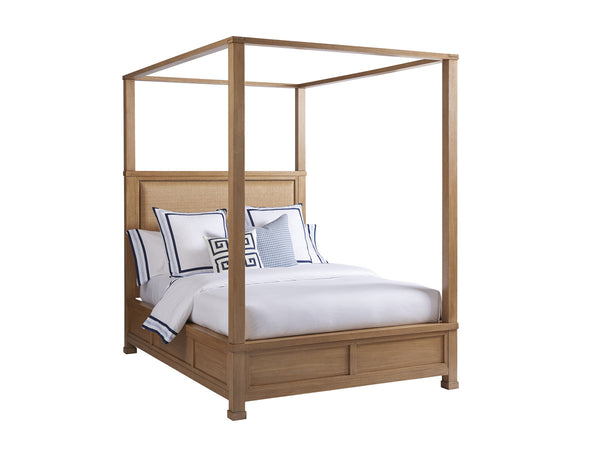 Shorecliff Canopy Bed in Sandstone