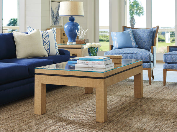 Harbor Raffia Cocktail Table by shopbarclaybutera
