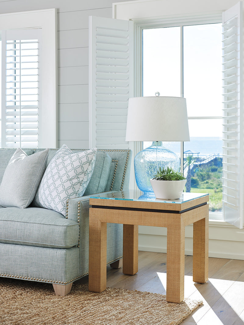 Harbor Raffia Lamp Table by shopbarclaybutera