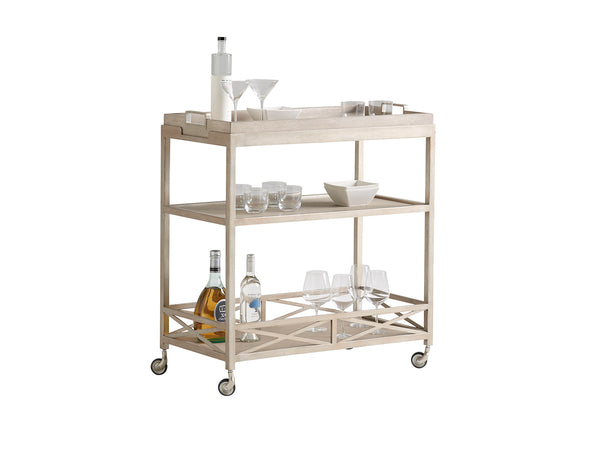 Anacapa Metal Bar Cart by shopbarclaybutera