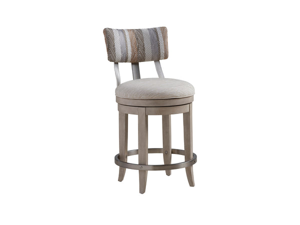 Cliffside Swivel Upholstered Counter Stool by shopbarclaybutera