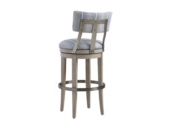 Cliffside Swivel Upholstered Bar Stool by shopbarclaybutera