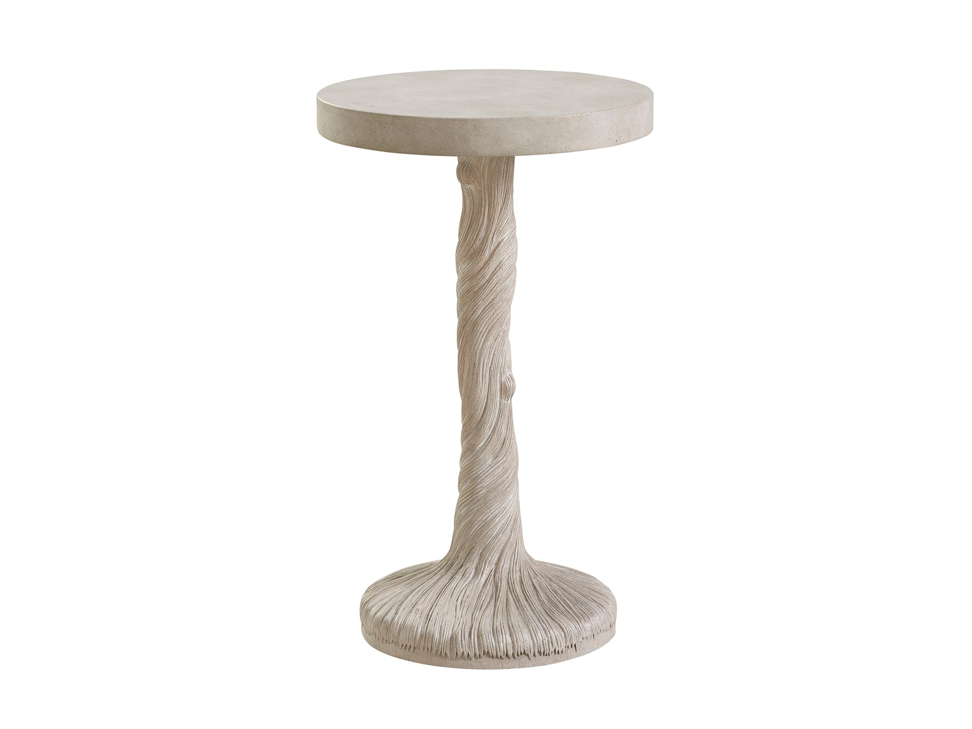 Saddle Peak Round Accent Table by shopbarclaybutera
