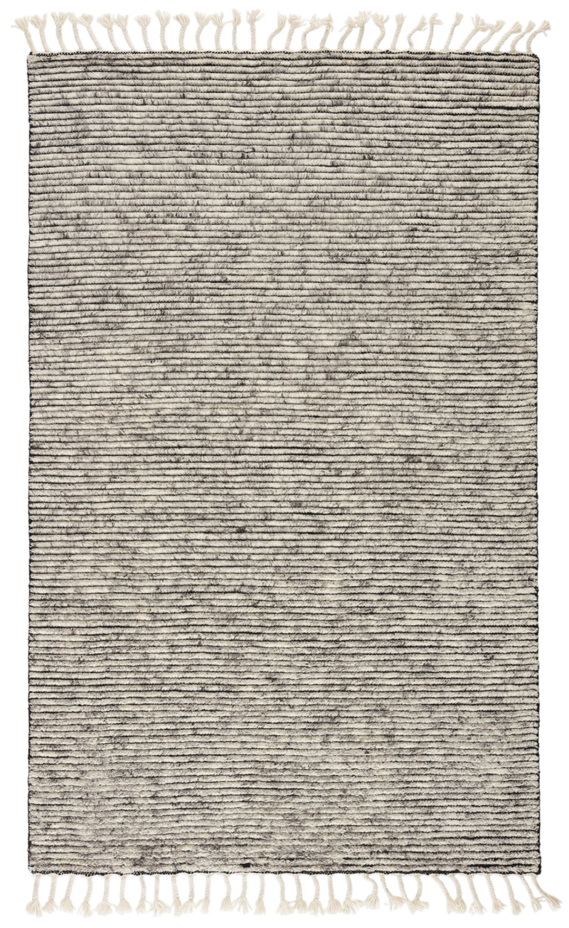 Alpine Hand-Knotted Stripe White/ Gray Area Rug