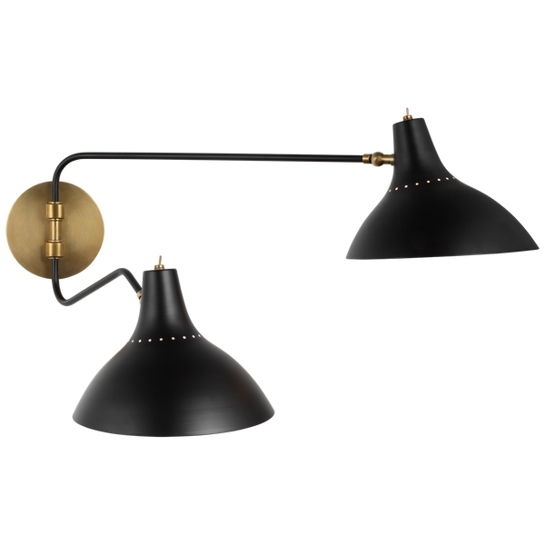 Charlton Medium Double Wall Light by AERIN