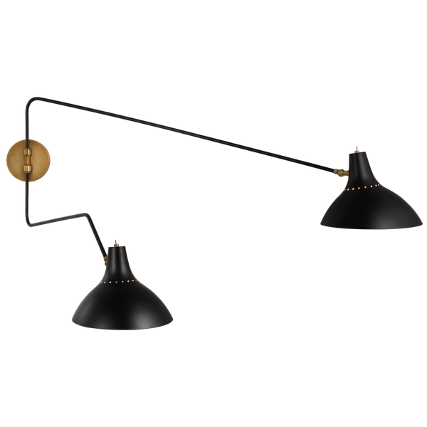 Charlton Large Double Wall Light by AERIN
