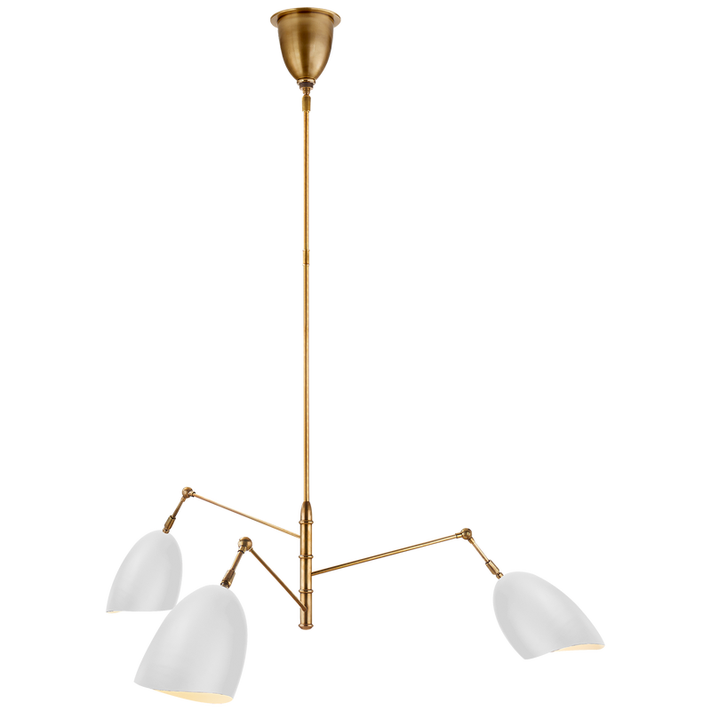 Sommerard Medium Triple-Arm Chandelier by AERIN
