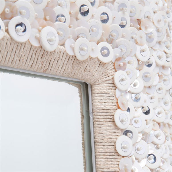 Abigail Sparkly Shell and Sequin Mirror