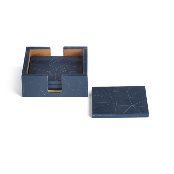 Abstract Inlay Coasters (Set of 4) by Panorama City