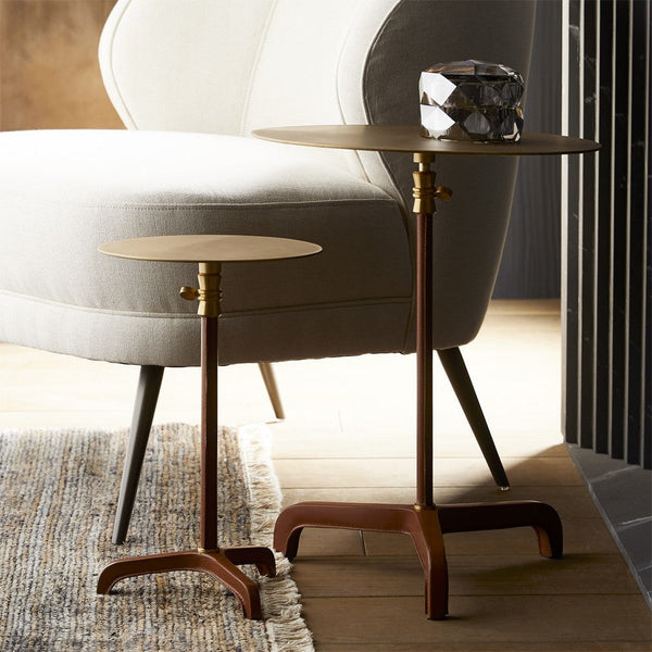 Addison Large Accent Table, Brown and Gold