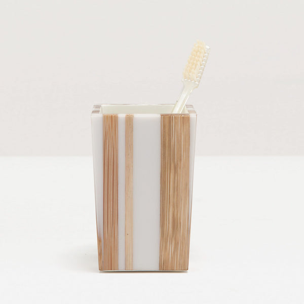 Ashford Collection Bath Accessories, Bamboo and White Resin