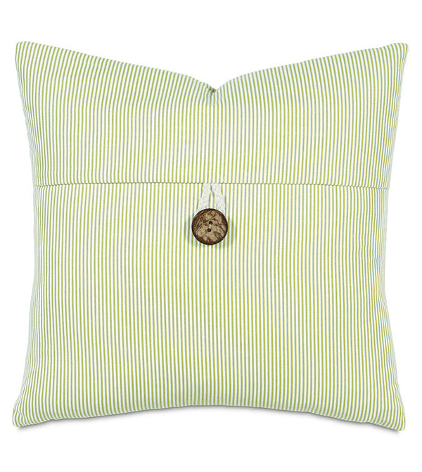 Avox Lime with Button Accent Pillow