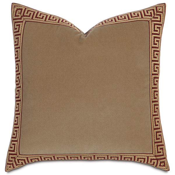 Jackson Gold Greek Key Border Accent Pillow