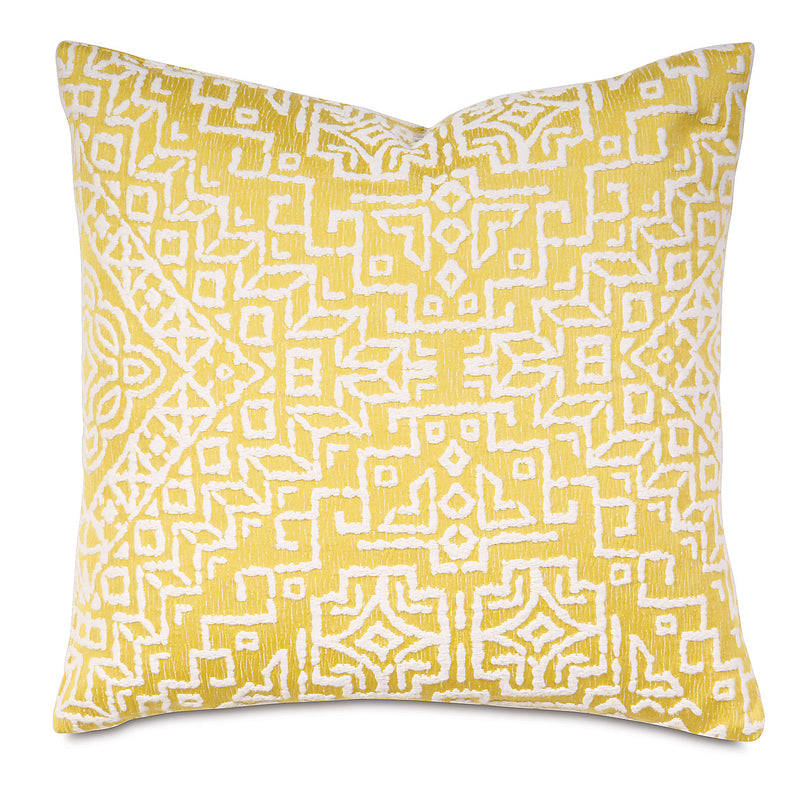 Tulla Canary Knife Edge Accent Pillow