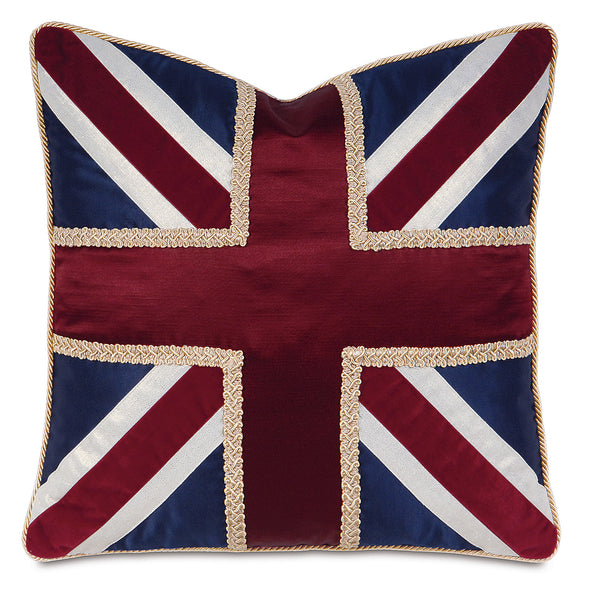 Union Jack Navy Accent Pillow