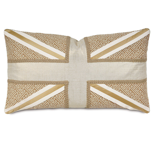 Union Jack Gold Accent Pillow