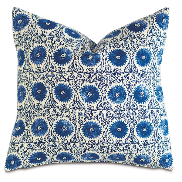 Sula Cerulean Knife Edge Accent Pillow
