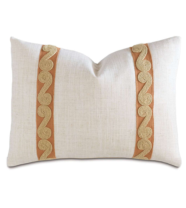 Ledger White Border Accent Pillow