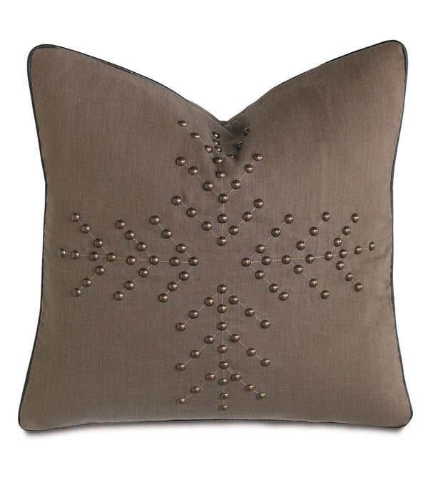 Breeze Clay Nailheads Accent Pillow