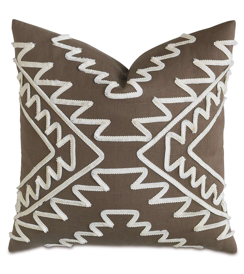 Breeze Clay with Mini Brush Fringe Accent Pillow
