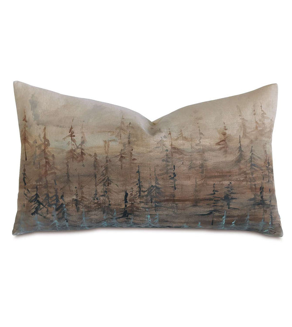 Tree Lines Hand-Painted Accent Pillow