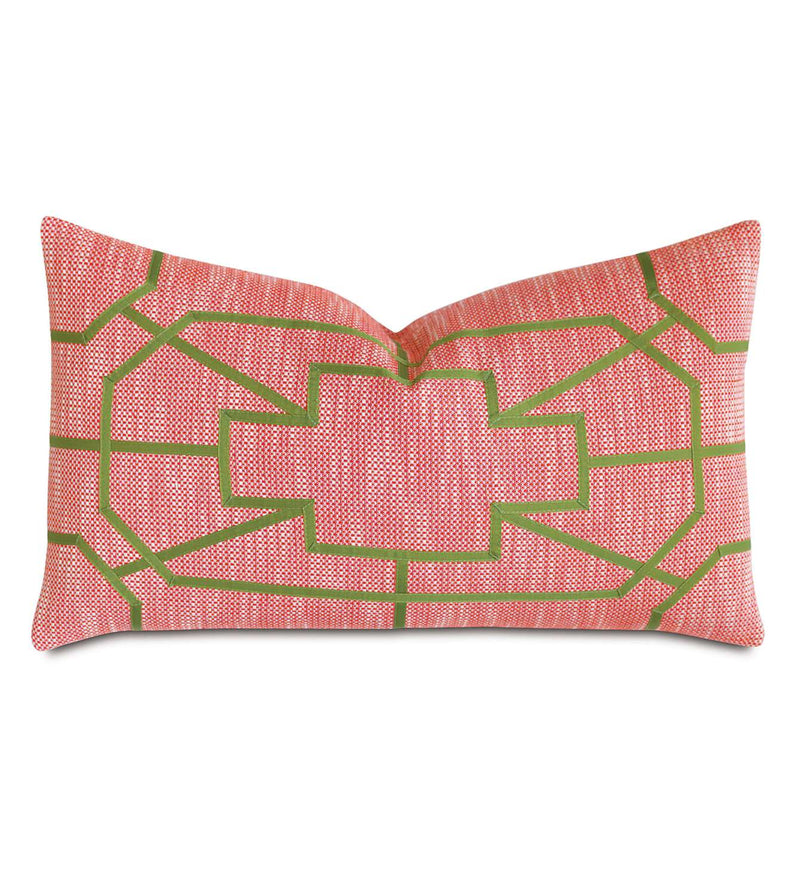 Rae Fiesta with Ribbon Accent Pillow