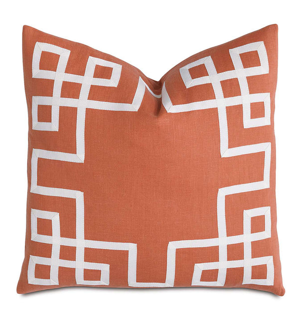 Breeze Tangerine with Ribbon Accent Pillow