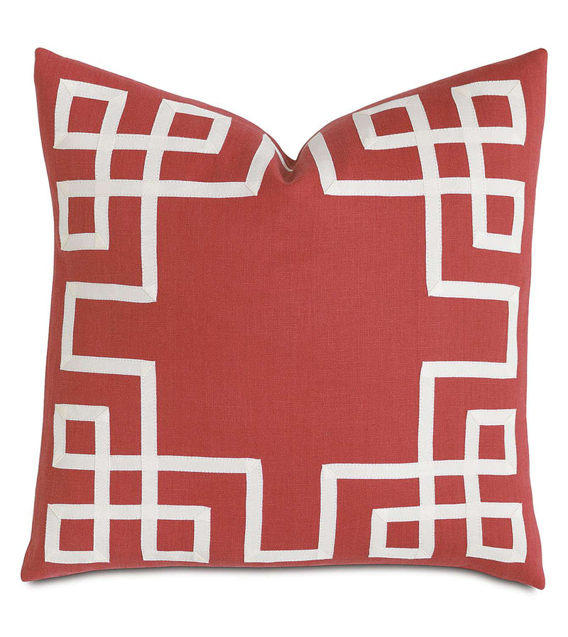 Breeze Scarlet with Ribbon Accent Pillow