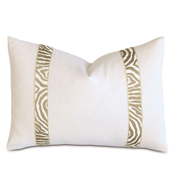 Filly White With Citron Border Accent Pillow