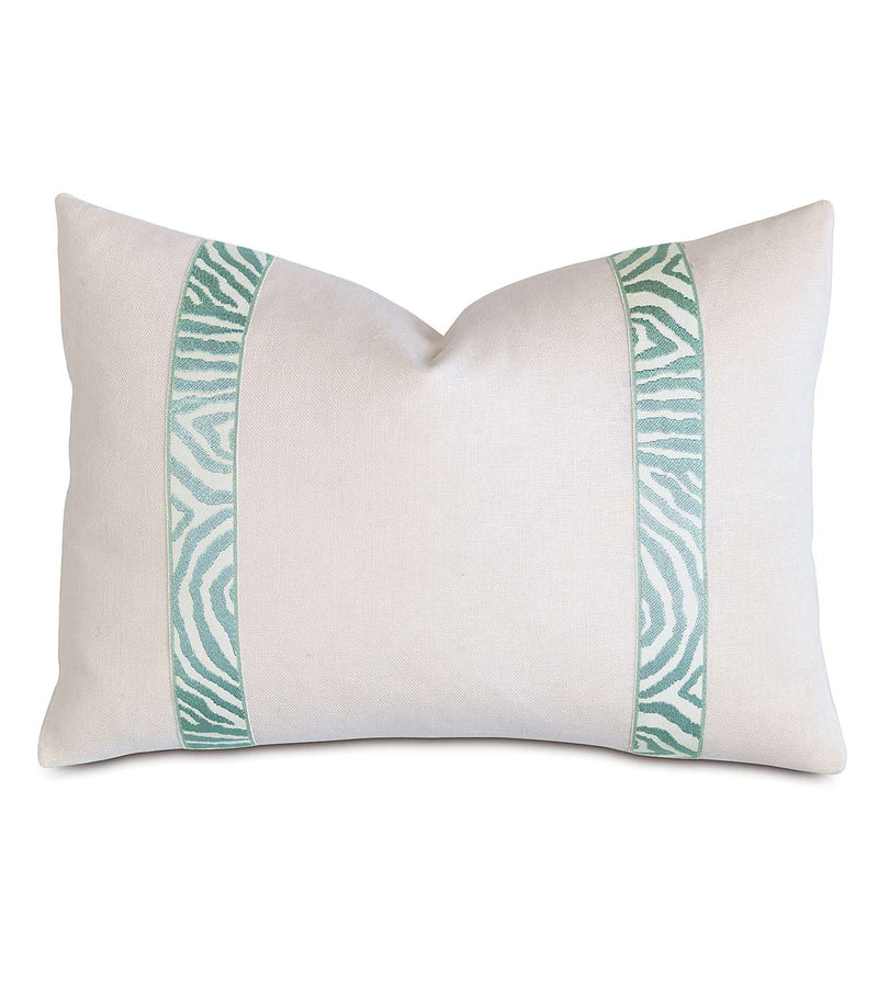 Filly White With Sea Border Accent Pillow