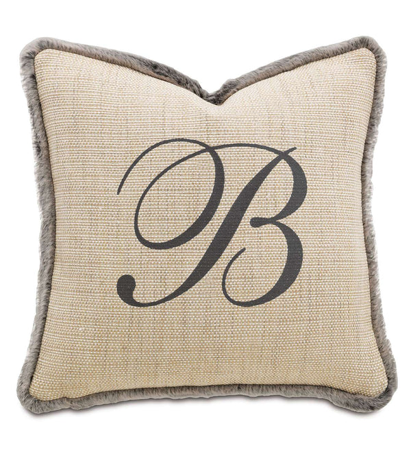 Gilmer Brulee Monogram Accent Pillow