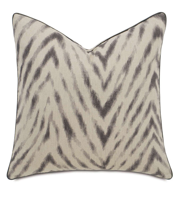 Bynum Smoke with Mini Welt Accent Pillow