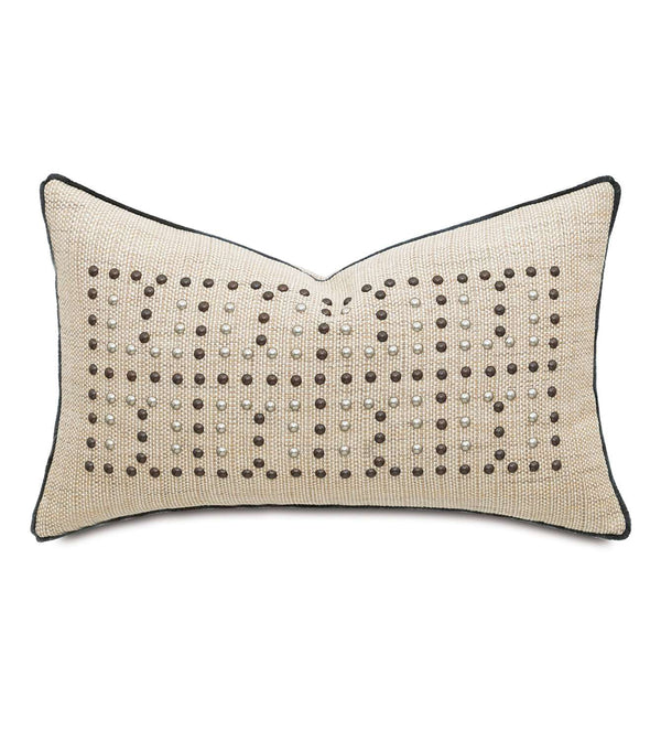Gilmer Brulee Nailheads Accent Pillow