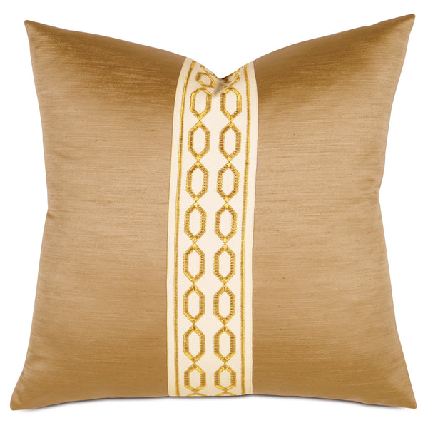 Lucent Gold Border Accent Pillow