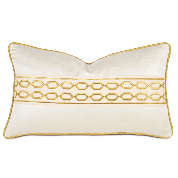 Lucent Opal Border Accent Pillow