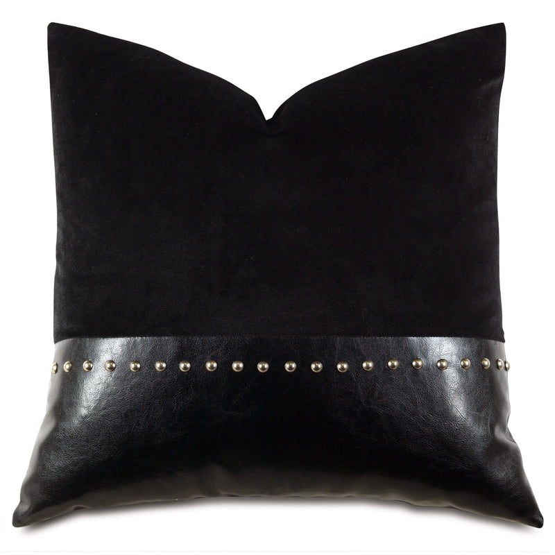 Nellis Lagerfeldt Nailhead Accent Pillow