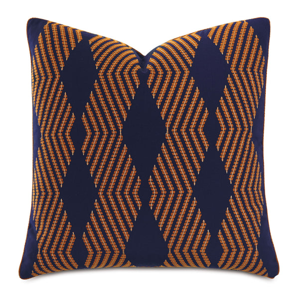 Ladue Geometric Accent Pillow in Indigo