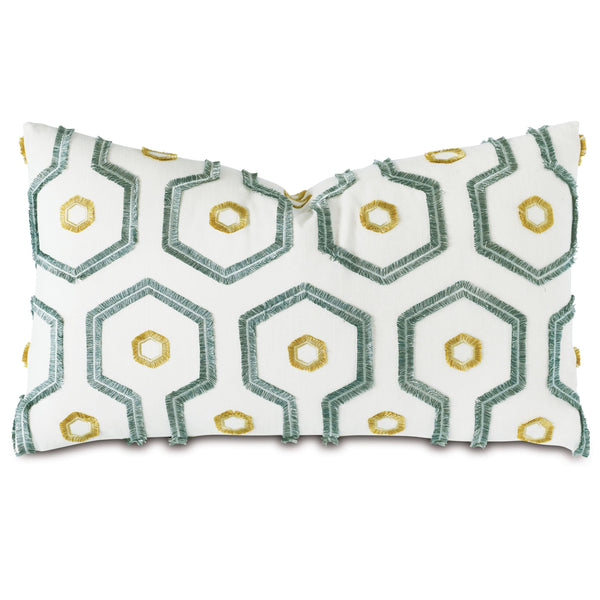 Twin Palms Applique Decorative Pillow