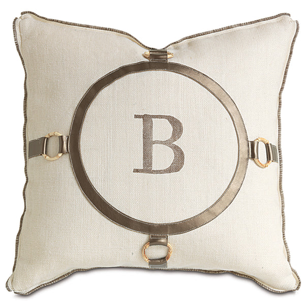 Rustique Birch Monogram Accent Pillow