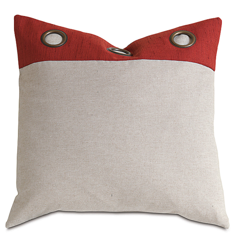 Kanzan Crimson with Grommets Accent Pillow
